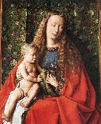 EYCK, Jan van The Madonna with Canon van der Paele (detail) dfg oil painting picture wholesale
