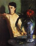 Edgar Degas Woman with Porcelain Vase oil painting picture wholesale