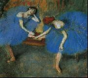 Edgar Degas Two Dancers in Blue Germany oil painting reproduction