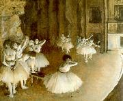Edgar Degas Ballet Rehearsal on Stage Germany oil painting reproduction