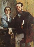 Edgar Degas The Duke and Duchess Morbilli oil painting picture wholesale