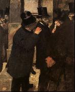 Edgar Degas At the Stock Exchange oil painting picture wholesale