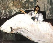 Edouard Manet Bauldaire's Mistress Reclining Germany oil painting reproduction