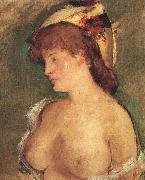 Edouard Manet Blond Woman with Bare Breasts oil painting picture wholesale