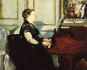 Edouard Manet Mme.Manet at the Piano oil painting picture wholesale