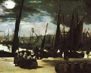 Edouard Manet Moonlight over the Port of Boulogne oil painting picture wholesale