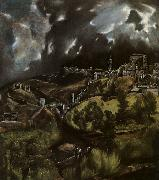 El Greco View of Toledo oil painting artist