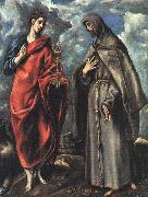 El Greco Saints John the Evangelist and Francis oil painting reproduction