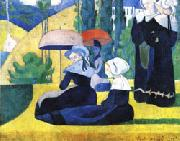 Emile Bernard Breton Women with Parasols oil painting picture wholesale