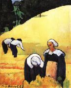 Emile Bernard The Harvest(Breton Landscape) oil painting picture wholesale