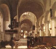 Emmanuel de Witte Interior of a Church oil painting artist