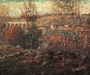 Ernest Lawson Harlem River oil painting artist