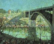 Ernest Lawson Spring Night at Harlem River oil painting artist