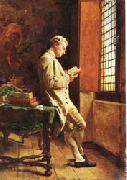 Ernest Meissonier The Reader in White oil