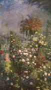 Ernest Quost Roses,Decorative Panel oil