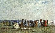 Eugene Boudin Bathers on the Beach at Trouville oil