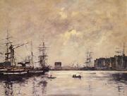 Eugene Boudin The Port of Le Havre(Dock of La Barre) oil painting picture wholesale