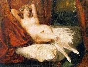 Eugene Delacroix Female Nude Reclining on a Divan oil painting picture wholesale
