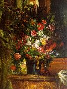 Eugene Delacroix Bouquet of Flowers on a Console_3 Germany oil painting reproduction