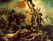 Eugene Delacroix Liberty Leading the People oil painting artist