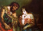 Eugene Delacroix Cleopatra and the Peasant oil painting picture wholesale