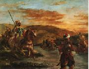 Eugene Delacroix Fording a Stream in Morocco oil painting picture wholesale