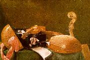 Evaristo Baschenis Still Life of Musical Instruments oil painting picture wholesale