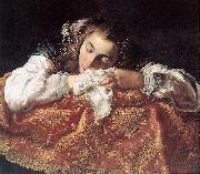 FETI, Domenico Sleeping Girl dh oil painting picture wholesale