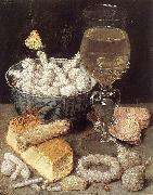 FLEGEL, Georg Still-Life with Bread and Confectionary dg oil painting artist