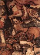 FLORIS, Frans The Fall of the Rebellious Angels (detail) dg oil painting artist