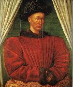 FOUQUET, Jean Portrait of Charles VII of France dg oil painting artist