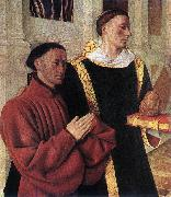 FOUQUET, Jean Estienne Chevalier with St Stephen dfhj oil painting artist