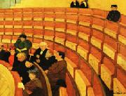 Felix Vallotton The Third Gallery at the Theatre du Chatelet oil