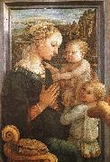 Fra Filippo Lippi Madonna and Child with Two Angels oil painting artist