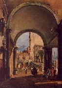 Francesco Guardi An Architectural Caprice oil painting artist