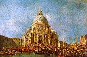 Francesco Guardi The Doge of Venice goes to the Salute on 21 November to Commemorate the end of the Plague of 1630 oil painting artist