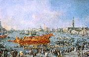 Francesco Guardi The Bucentaur Departs for the Lido on Ascension Day oil painting artist