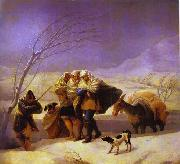Francisco Jose de Goya The Snowstorm oil