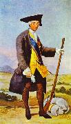 Francisco Jose de Goya Charles III in Hunting Costume oil