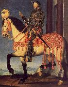 Francois Clouet Portrait of Francois I on Horseback oil painting artist
