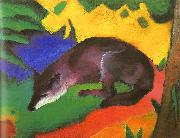 Franz Marc Blue Black Fox oil painting picture wholesale