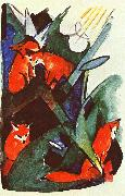 Franz Marc Four Foxes oil painting picture wholesale