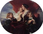 Franz Xaver Winterhalter Elzbieta Branicka, Countess Krasinka and her Children oil painting picture wholesale