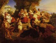 Franz Xaver Winterhalter Il Dolce Farniente oil painting picture wholesale