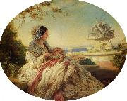 Franz Xaver Winterhalter Queen Victoria with Prince Arthur oil painting picture wholesale