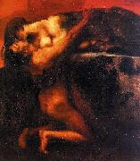 Franz von Stuck The Kiss of the Sphinx Germany oil painting reproduction