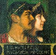 Franz von Stuck Franz and Mary Stuck as a God and Goddess oil painting picture wholesale