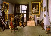 Frederic Bazille The Artist's Studio on the Rue de la Condamine Germany oil painting reproduction