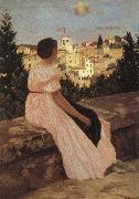 Frederic Bazille The Pink Dress oil painting picture wholesale