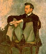 Frederic Bazille Portrait of Renoir Germany oil painting reproduction